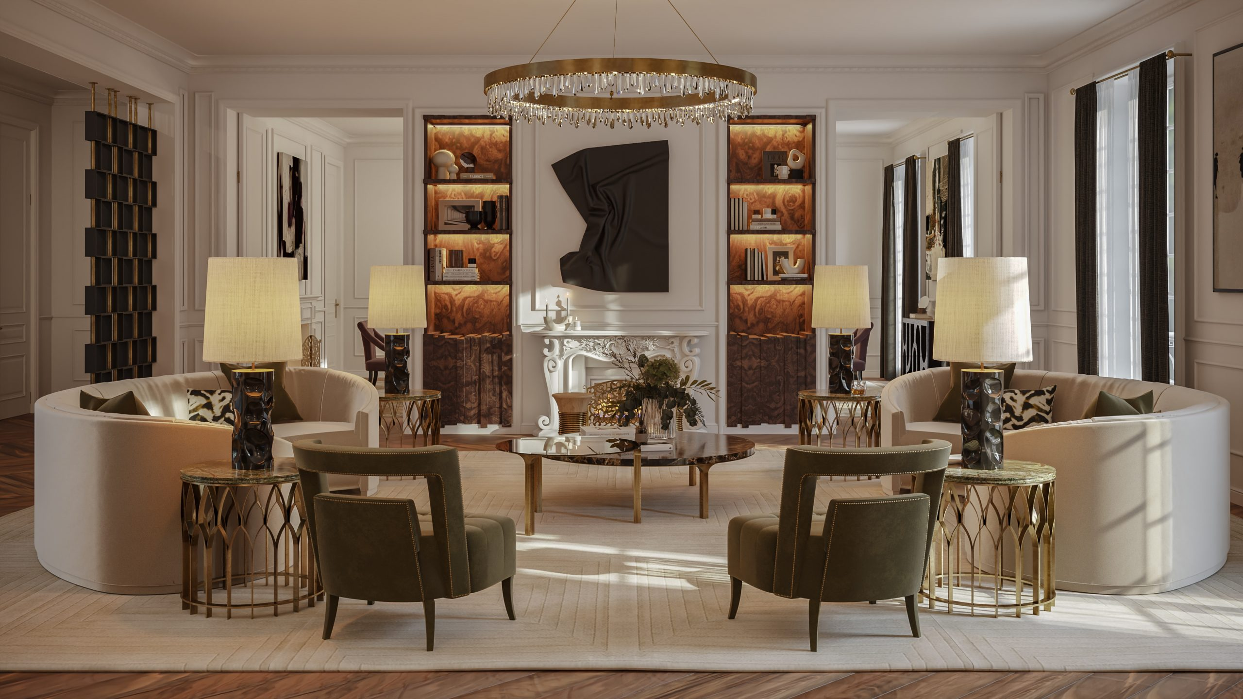 Oasis Living Room oasis living room Oasis Living Room: A Perfect Retreat at The Eternel Parisian Apartment Home Society Paris House Living Room scaled