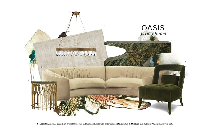 Oasis Living Room oasis living room Oasis Living Room: A Perfect Retreat at The Eternel Parisian Apartment oasis living room moodboard