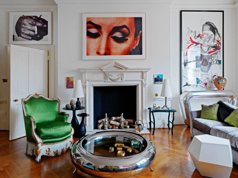 francis sultana Francis Sultana, Eponymous Bright and Colourful Upholstery Francis Sultana     Blue Salon