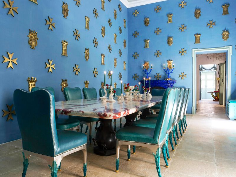 francis sultana Francis Sultana, Eponymous Bright and Colourful Upholstery Francis Sultana     Fine Dining Room