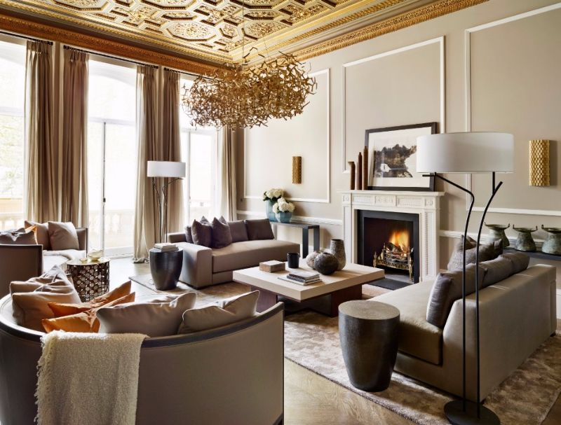 Fiona Barratt - Spectacular Upholstery Ideas for Living Rooms - Living Room with Cozy and Neutral Ambiance
