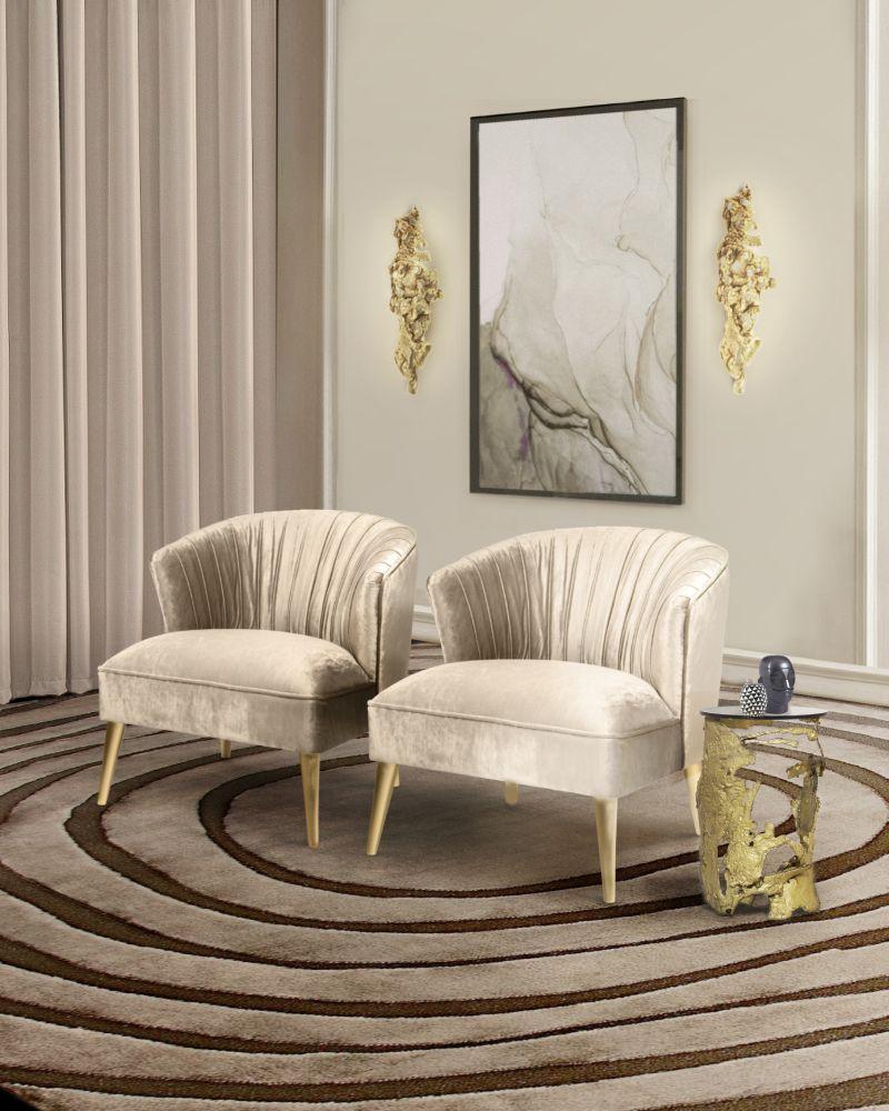 Upholstered Furniture In The House of Rafael de Cárdenas In New York